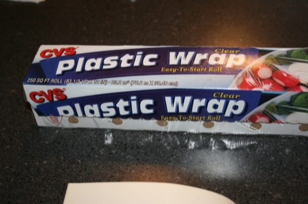 You will, however, need that plastic wrap soon, so whip it out.