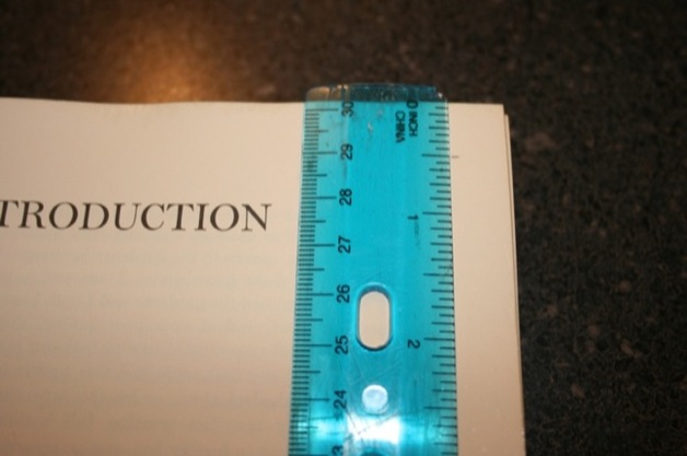 Use your ruler to measure and mark a half inch border around this page.